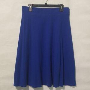Royal Blue Lands' End A-line Skirt